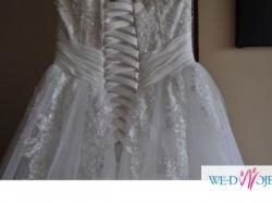 Piękna suknia ślubna, model Herms Barbielle, rozm.36/38