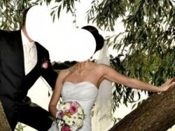 "Piękna suknia ślubna model ""SHANNON"" w roz. 36/38 + gratisy!!!"