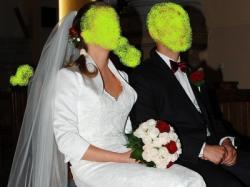 Piękna Suknia Ślubna MON CHERI 29246 Bolerko 36/38