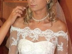 Piękna suknia ślubna na szczupłą Panią