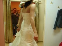 Piękna suknia ślubna na wzór modelu Flamenco