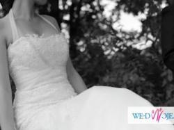 Piękna suknia ślubna na wzór Pronovias Flauta!