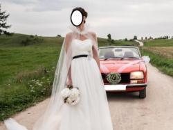 Piękna suknia ślubna + peleryna - Pronovias Jaspe