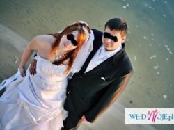 Piękna suknia ślubna plus dodatki!