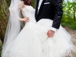 Piękna suknia ślubna princessa salon warszawa34/36