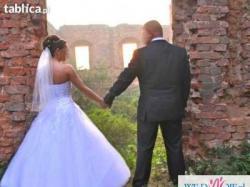 Piękna suknia ślubna Princessa! tanio