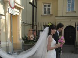 Piękna Suknia Ślubna Pronovias Honduras (śmietankowa biel) + gratisy WAWA