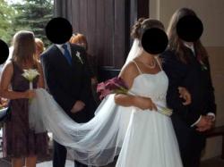 Piękna Suknia Ślubna Pure Bridal z kolekcji Romantica 38/40, Ecru