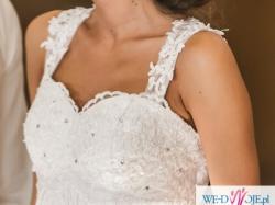 Piękna suknia ślubna, r. 34-36
