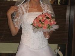 Piękna suknia ślubna - raz noszona, jak nowa. Okazja ! :*