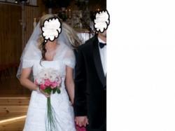 Piękna suknia ślubna Rochelle + dodatki
