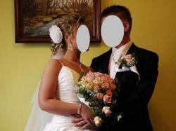 Piękna suknia ślubna rozm. 36/38 długa i krótka w jednym