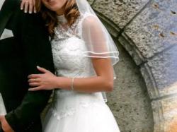 piękna suknia ślubna - rozm. 38