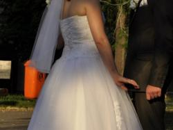 Piękna suknia ślubna rozm. 38/42, bolerko GRATIS