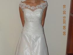 Piękna suknia ślubna rozm. 38, ecru