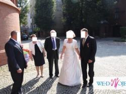 piękna suknia ślubna rozm. 40-42, cena 400 zł