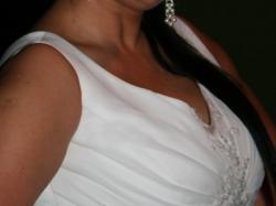 Piękna suknia ślubna rozm.42/44 + bolerko gratis
