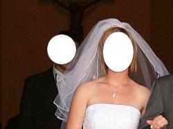 piękna, suknia ślubna - rozmiar 38; GRATISY!!!
