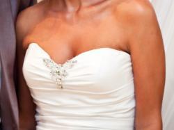 Piękna suknia ślubna rybka