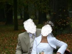 piękna suknia ślubna szyta na zamówienie wg własnego projektu