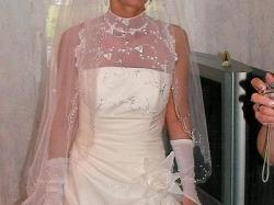 piękna suknia ślubna- tafata+ koronka_34/36