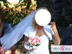 Piękna suknia ślubna TANIO rozm.38-40 wys.174cm