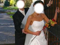 Piękna suknia ślubna Taranis + dodatki gratis