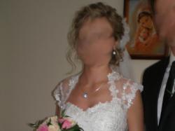 PIĘKNA Suknia Ślubna- typu księżniczka- rozm.36-38