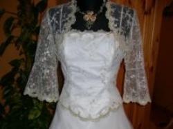 Piękna suknia ślubna w kolorze ecru warto!!!!!