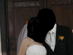 Piekna suknia ślubna w kolorze perłowe ecru