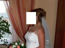 Piękna suknia ślubna + welon