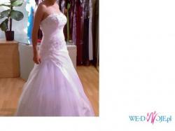 Piękna suknia ślubna + welon + buty