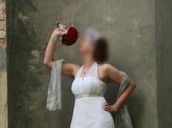 Piękna suknia ślubna wzorowana na modelu Agnes