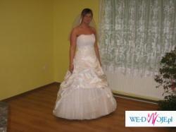 Piękna suknia slubna z bolerkiem rozmiar 40-42