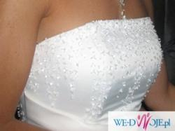 piękna suknia ślubna z dodatkami gratis