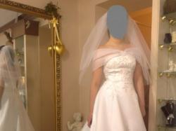 Piękna suknia ślubna z efektownym trenem Agnes 10331