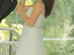 Piękna suknia ślubna z koronki ivory 160cm