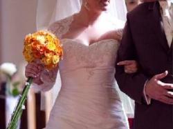 *****Piękna Suknia Ślubna z Madonny Tres Chic AQ009 roz 38/40*****