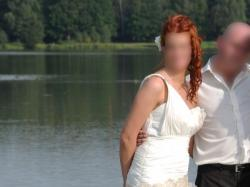 Piękna suknia ślubna z przedłużonym stanie(tren)-  Urszula Mateja model 737 r.38