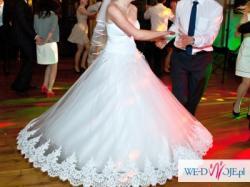 Piękna suknia ślubna z salonu Jacqueline - księżniczka, 36
