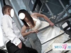 Piękna suknia ślubna z salonu Karina ecru roz. 38 + bolerko