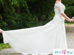 Piękna suknia ślubna z Salonu Madonna + bolerko rozm 40 !!