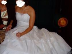 Piekna suknia z gorsetem rozm uniwersalny 36-38 na 160-165 / dodatki