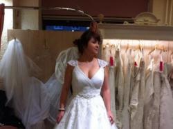 Piękna sunkia ślubna 42/44 Swarovski księżniczka