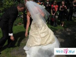 piękna waniliowa suknia z salonu ICH DWOJE we Wrocławiu