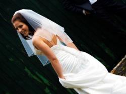 Piękna włoska suknia ślubna z kolekcji PERLE DI DELSA + welon