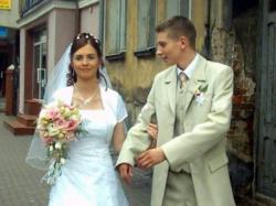 Piękna, wygodna suknia ślubna - biała