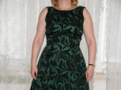 Piękna zielono- czarna suknia balowa