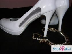 Piękne białe ślubne buty rozmiar 39