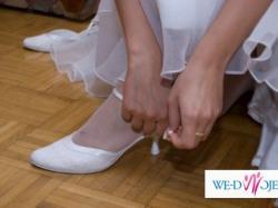 Piękne buciki ślubne